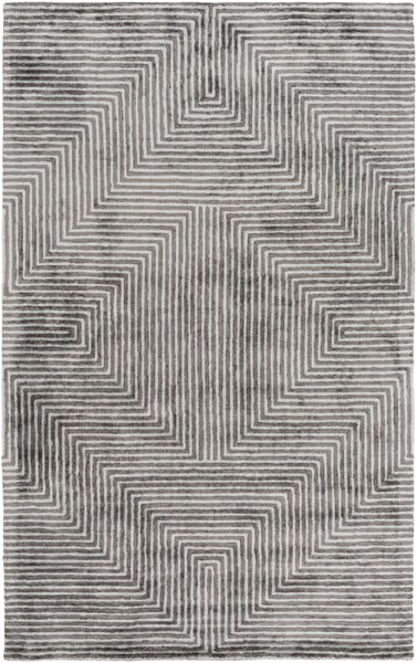 Quartz Slate Light Gray Viscose Area Rug - 60 x 90 QTZ5000-576