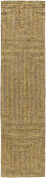 Quartz Rust Light Gray Viscose Runner - 30 x 120 QTZ5002-2610