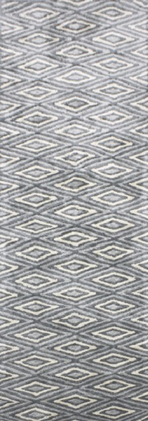 Quartz Contemporary Charcoal Slate Ivory Viscose Rugs 12964-VAR1