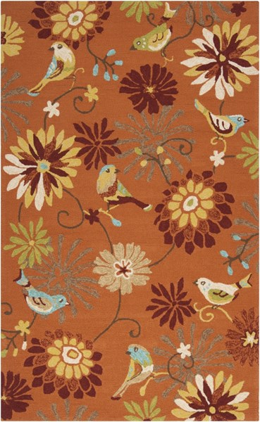 Rain Rust Gold Burnt Orange Polypropylene Area Rug (L 96 X W 60) RAI1104-58