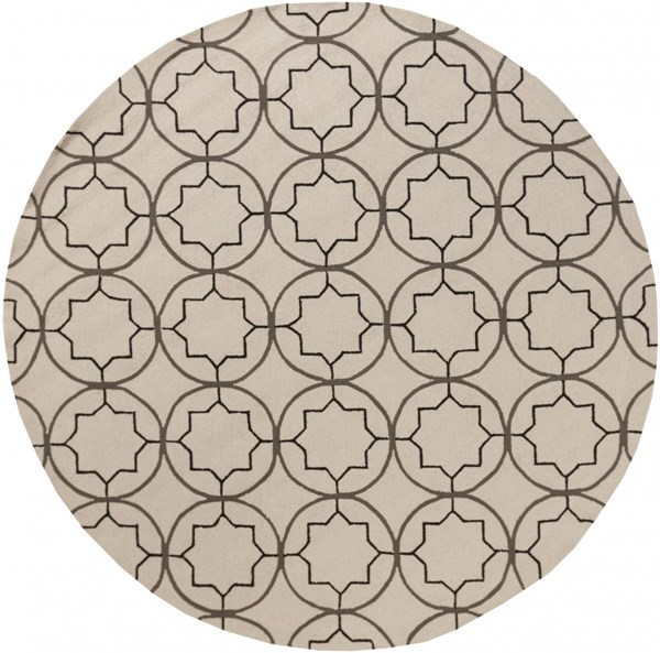 Rain Light Gray Black Polypropylene Round Area Rug - 96 x 96 RAI1144-8RD