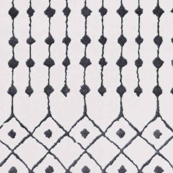 Surya Rabat Charcoal White Polyester Geometric Sample Area Rug - 18x18 RBT2300-1616