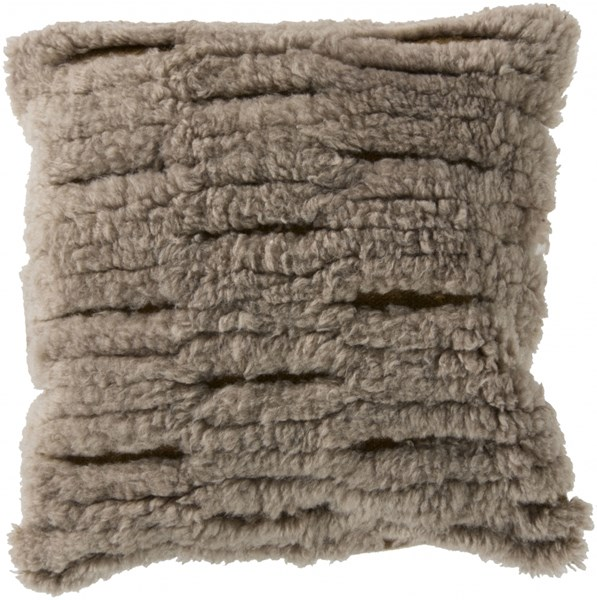 Mammoth Taupe Gold Poly Wool Throw Pillow (L 22 X W 22 X H 5) RC004-2222P