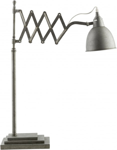 Rochester Antique Silver Iron Table Lamp - 6x29 RCH843-TBL