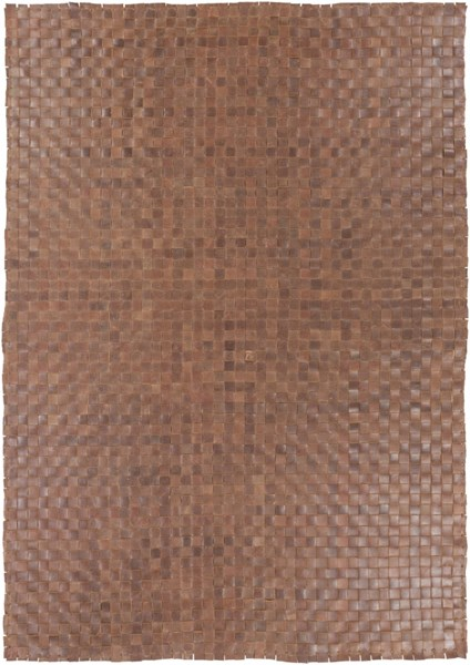 Rock Modern Ivory Leather Rectangle Hand Woven Area Rug RCK7000-576