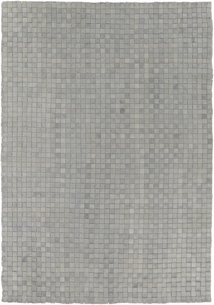 Rock Modern Gray Leather Hand Woven Area Rug (L 90 X W 60) RCK7001-576