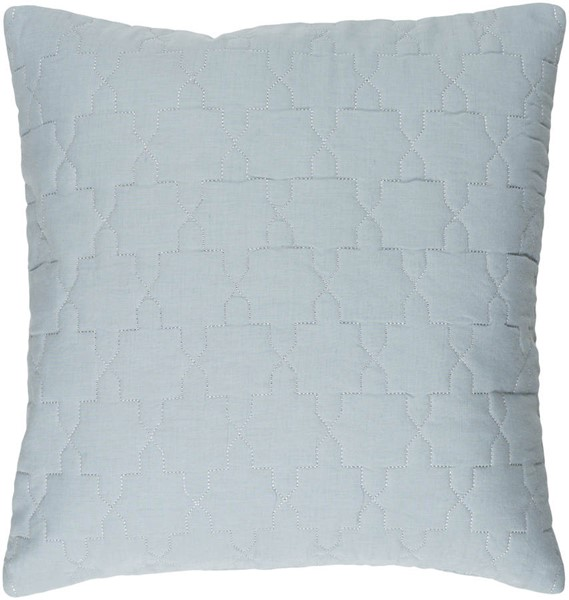 Surya Reda Ice Blue Down Fabric Pillow - 18x18 RD001-1818D