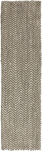 Reeds Contemporary Ivory Gray Fabric Area Rugs 852-VAR1
