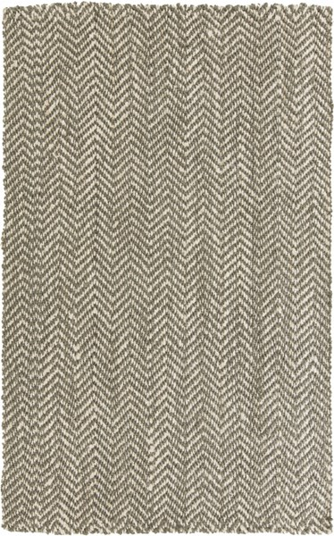 Reeds Contemporary Ivory Gray Fabric Hand Woven Area Rug REED800-58