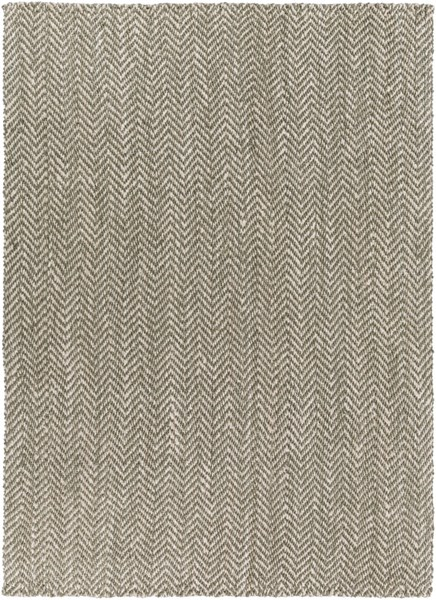 Reeds Contemporary Ivory Gray Fabric Rectangle Area Rug REED800-811