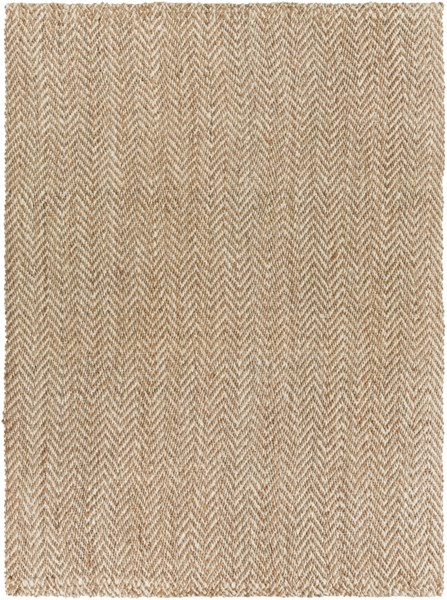 Reeds Ivory Beige Jute Area Rug (L 132 X W 96) REED804-811