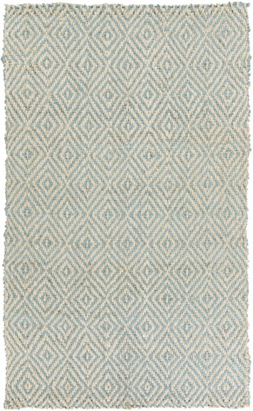 Reeds Contemporary Ivory Slate Fabric Rectangle Area Rug REED809-58