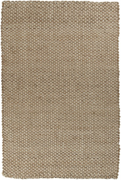 Reeds Contemporary Gold Ivory Fabric Hand Woven Area Rug (L 96 X W 60) REED824-58