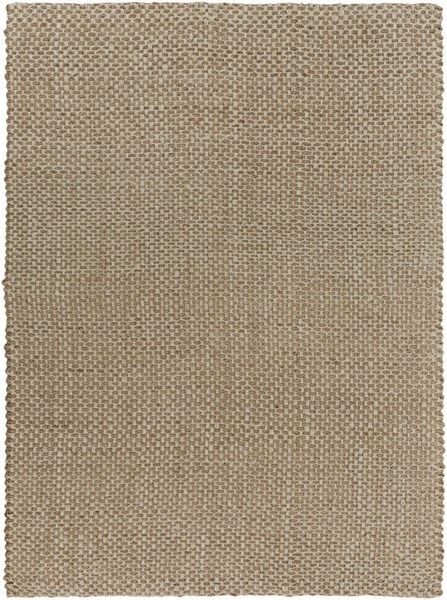 Reeds Contemporary Gold Ivory Fabric Rectangle Area Rug (L 132 X W 96) REED824-811