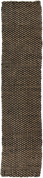 Reeds Charcoal Ivory Jute Area Rug (L 36 X W 24) REED826-23
