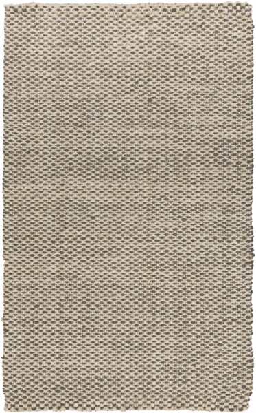 Reeds Charcoal Ivory Jute Area Rug (L 96 X W 60) REED826-58
