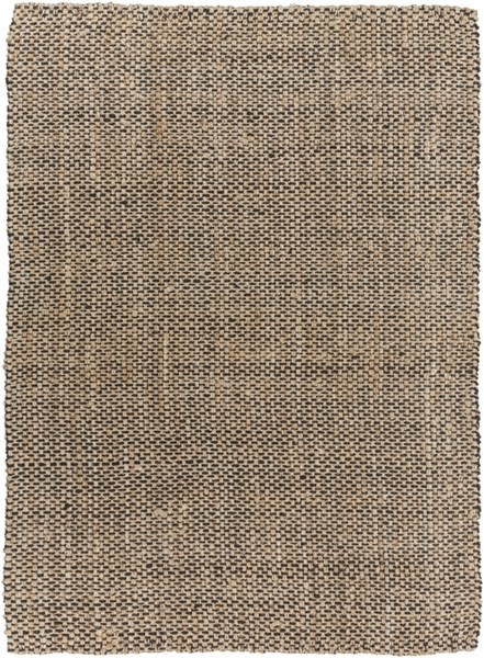 Reeds Charcoal Beige Jute Area Rug (L 132 X W 96) REED828-811