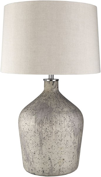 Surya Reilly Ivory Glass Table Lamp - 17.5x30.25 REI-001