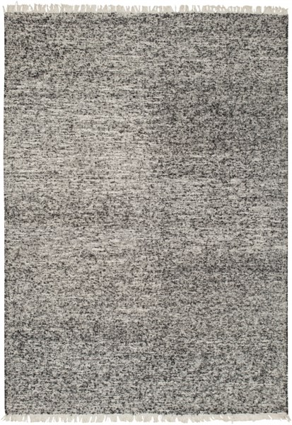 Rex Contemporary Black Ivory Fabric Area Rug (L 90 X W 60) REX4000-576