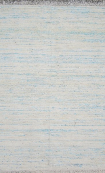 Rex Contemporary Aqua Cobalt Sky Blue Fabric Area Rug (L 90 X W 60) REX4006-576