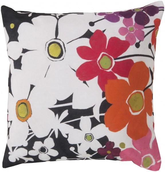 Rain Orange Black Pink Polyester Throw Pillow (L 18 X W 18 X H 4) RG008-1818