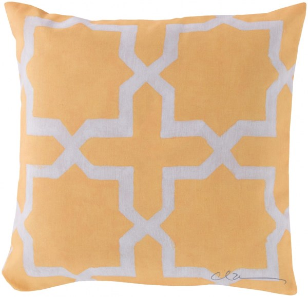 Rain Sunflower Beige Polyester Square Throw Pillow (L 18 X W 18 X H 4) RG012-1818