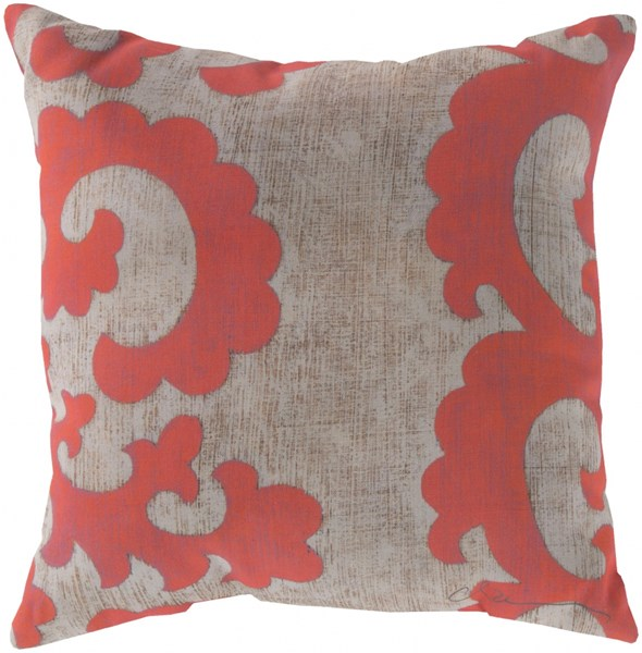 Rain Coral Beige Polyester Coastal Throw Pillow (L 20 X W 20 X H 5) RG019-2020