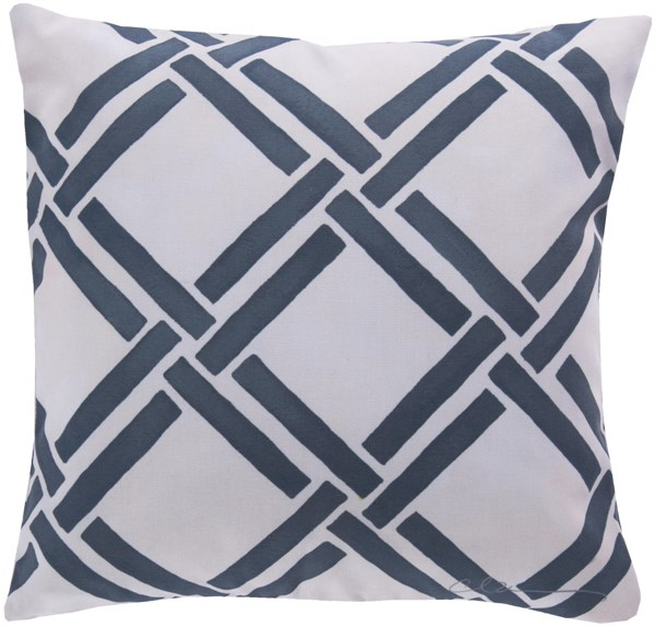 Rain Navy Beige Polyester Square Throw Pillows 13322-VAR1
