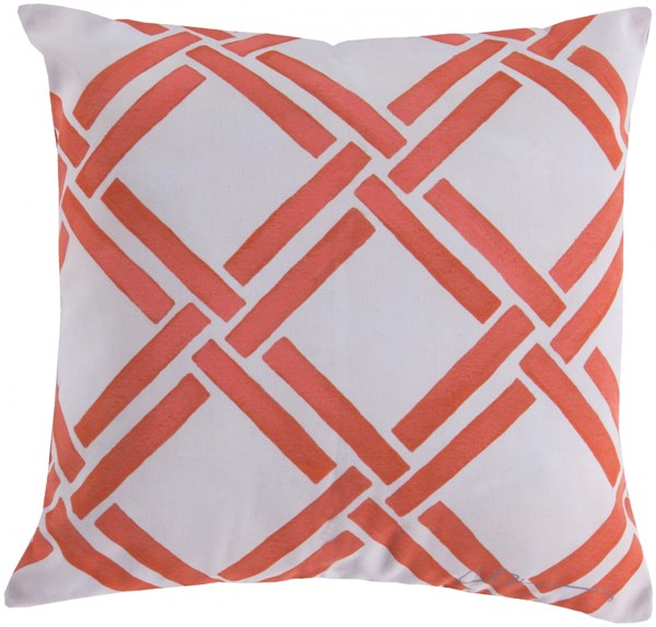 Rain Coral Beige Polyester Poly Feel Throw Pillow (L 20 X W 20 X H 5) RG026-2020