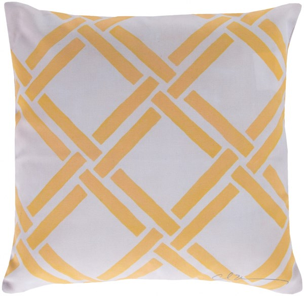 Rain Sunflower Beige Geometric Throw Pillow (L 18 X W 18 X H 4) RG028-1818