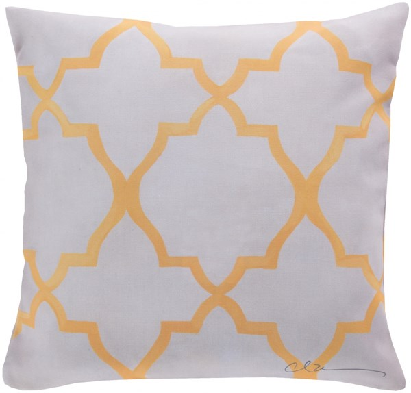 Rain Sunflower Beige Geometric Throw Pillow (L 20 X W 20 X H 5) RG032-2020
