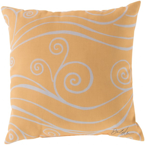 Rain Sunflower Beige Square Throw Pillow (L 18 X W 18 X H 4) RG039-1818