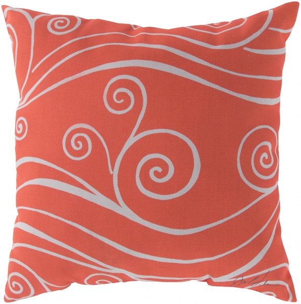 Rain Coral Beige Coastal Throw Pillow (L 20 X W 20 X H 5) RG042-2020