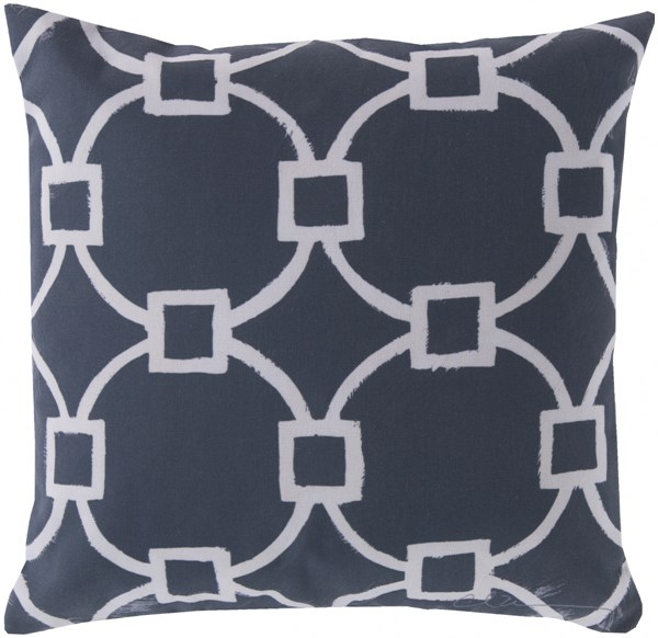 Rain Navy Beige Polyester Throw Pillows 13330-VAR1