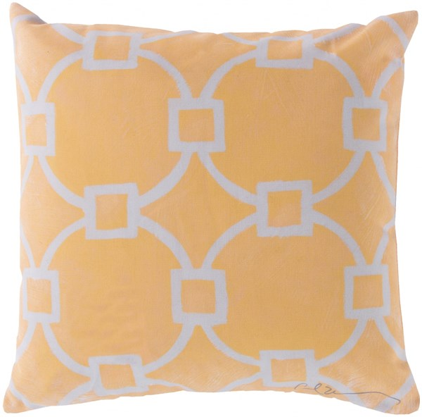 Rain Sunflower Beige Polyester Throw Pillow (L 18 X W 18 X H 4) RG048-1818