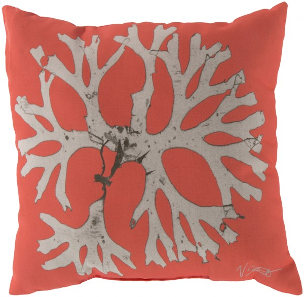 Rain Coastal Coral Beige Poly Feel Throw Pillow (L 20 X W 20 X H 5) RG051-2020