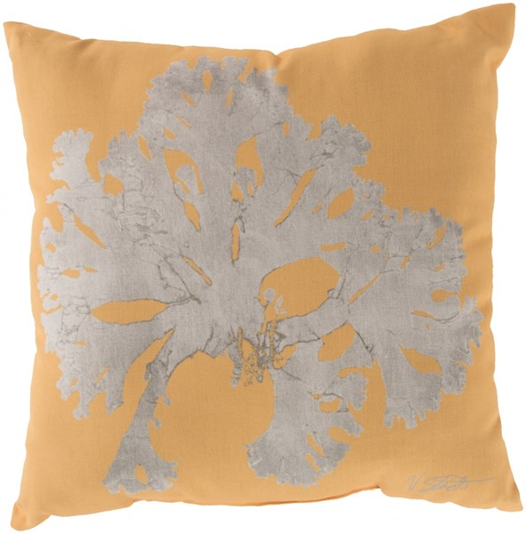 Rain Sunflower Beige Coastal Square Throw Pillow (L 20 X W 20 X H 5) RG056-2020