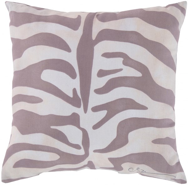 Rain Gray Beige Polyester Throw Pillow (L 20 X W 20 X H 5) RG060-2020