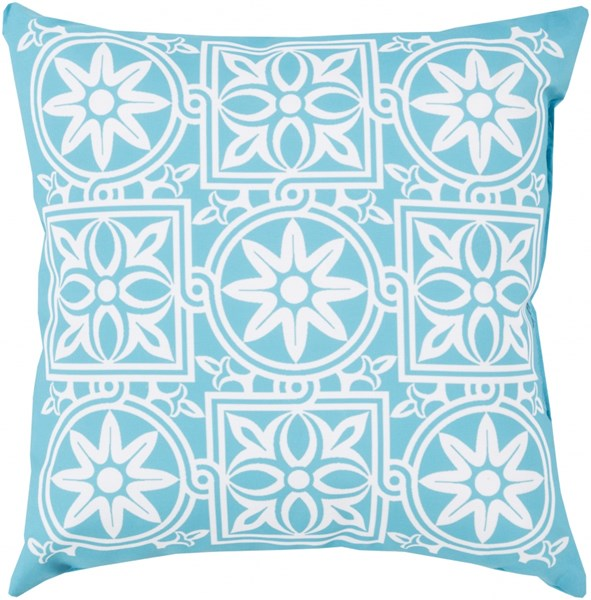 Rain Cobalt Ivory Polyester Throw Pillow (L 20 X W 20 X H 5) RG062-2020