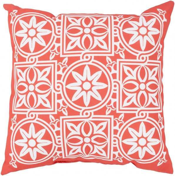 Rain Coral Ivory Polyester Global Throw Pillow (L 26 X W 26 X H 5) RG063-2626