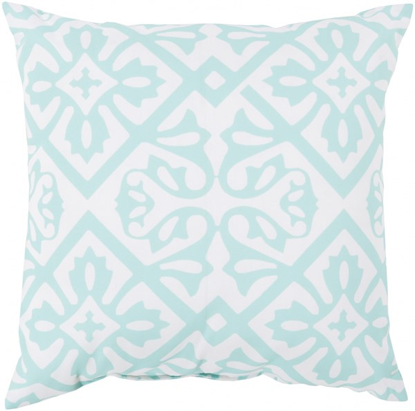 Rain Mint Ivory Weather Resistant Throw Pillow (L 20 X W 20 X H 5) RG064-2020