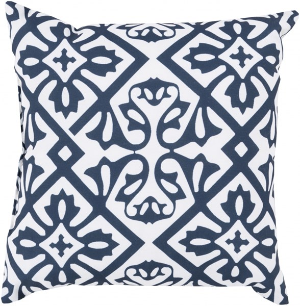 Rain Cobalt Ivory Polyester Geometric Throw Pillow (L 26 X W 26 X H 5) RG067-2626