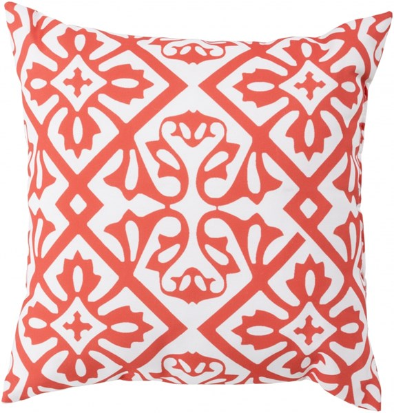 Rain Coral Ivory Polyester Square Throw Pillow (L 26 X W 26 X H 5) RG068-2626