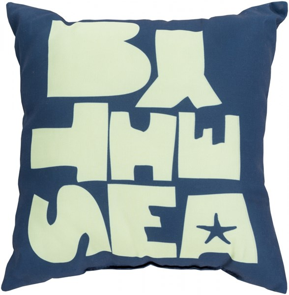 Rain Cobalt Mint Polyester Throw Pillow - 18x18x4 RG070-1818