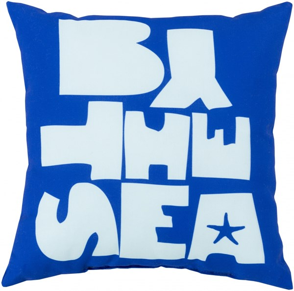 Rain Cobalt Sky Blue Polyester Throw Pillow - 26x26x5 RG072-2626