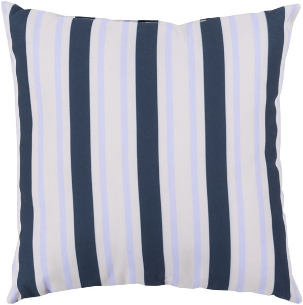 Rain Cobalt Light Gray Sky Blue Polyester Throw Pillow - 26x26x5 RG109-2626