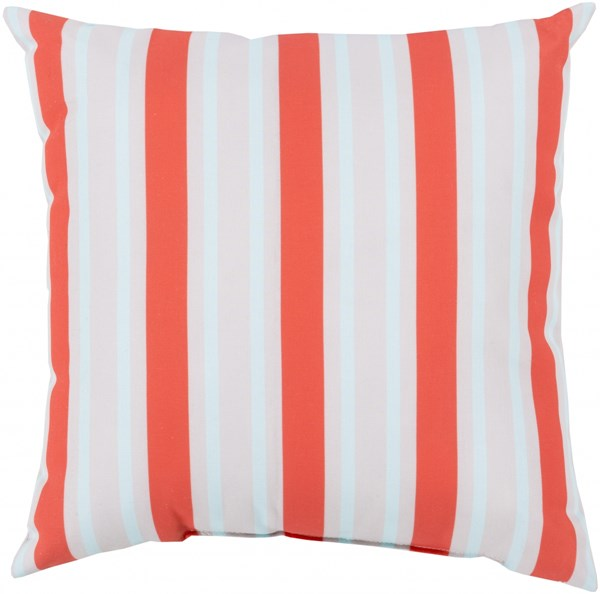 Rain Coral Light Gray Sky Blue Polyester Throw Pillow - 20x20x5 RG110-2020