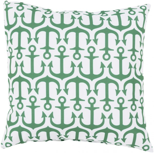 Rain Emerald Green Polyester Throw Pillow (l 18 X W 18 X H 4)   RG112-1818