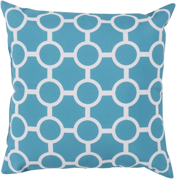 Rain Aqua Light Gray Polyester Throw Pillow - 18x18x4 RG118-1818