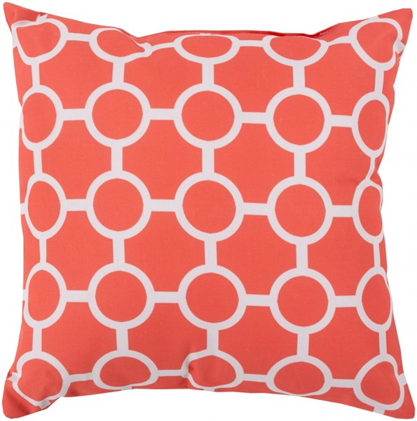 Rain Coral Light Gray Polyester Throw Pillow - 26x26x5 RG120-2626